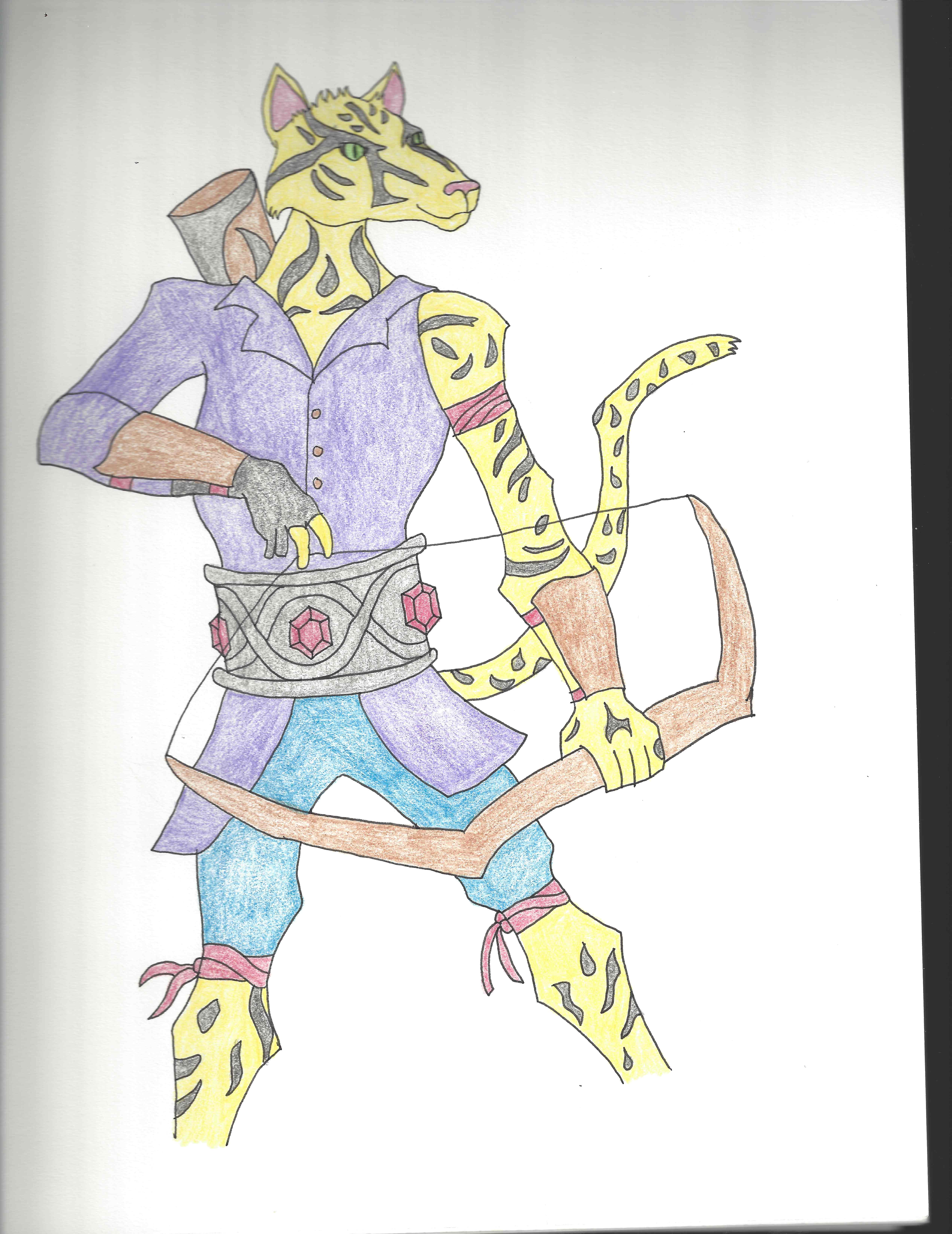 Character Concept: the Tabaxi Speedy Sniper - Bravo Bard